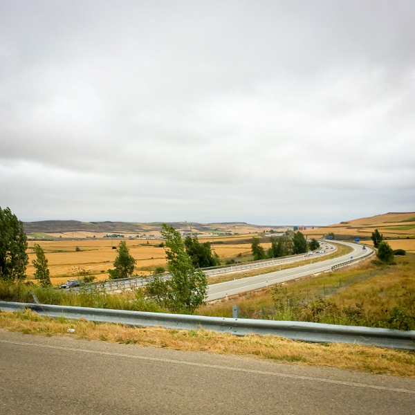 Major roads appearing walking from Atapuerca to Burgos on the Camino de Santiago on eatlivetravelwrite.com