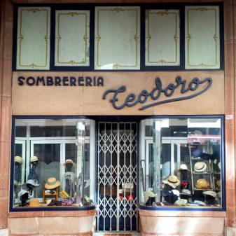 Hat shop in Burgos walking from Atapuerca to Burgos on the Camino de Santiago on eatlivetravelwrite.com
