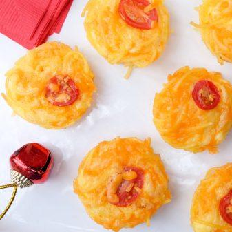 Gluten free Spaghetti quiche bites on eatlivetravelwrite.com