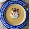 Celery root soup with horseradish cream from My Paris Kitchen on eatlivetravelwrite.com