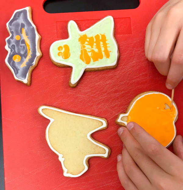 Halloween cookie decorating with Adell Shneer on eatlivetravelwrite.com