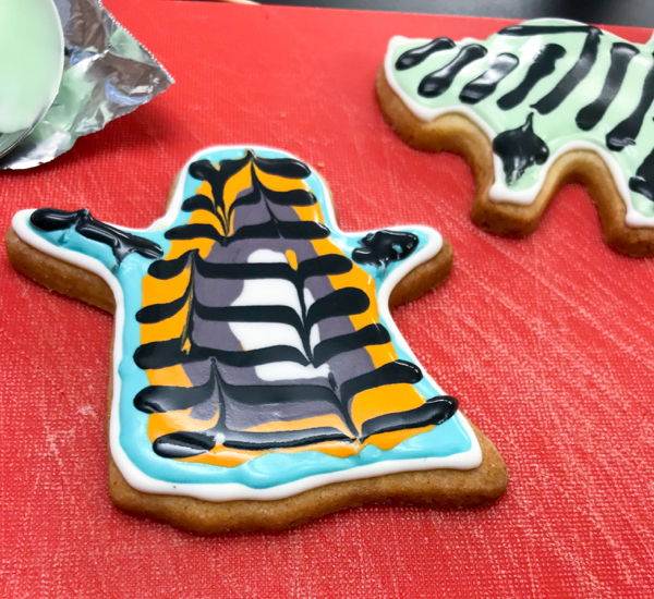 Scary ghost cookie with Adell Shneer on eatlivetravelwrite.com