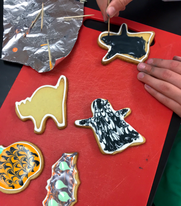 Kids Halloween cookie creations with Adell Shneer on eatlivetravelwrite.com