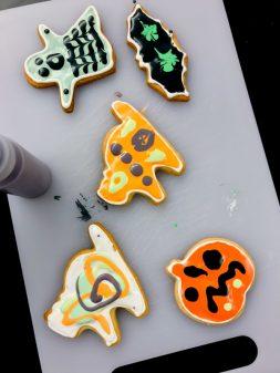 Kids decorate cookies for Halloween with Adell Shneer on eatlivetravelwrite.com