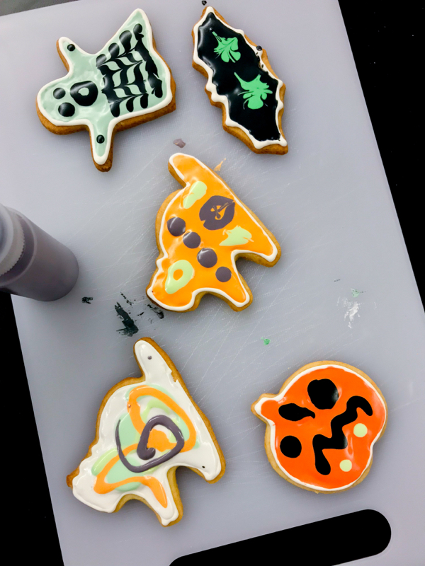 Kids decorate cookies for Halloween with Adell Shneer on eatlivetravelwrite.com