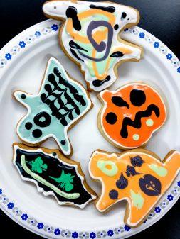 Kids Halloween cookies ready to eat with Adell Shneer on eatlivetravelwrite.com