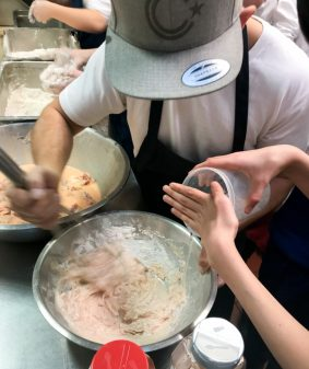 Making a batter for fried cauliflower at Lisa Maris on eatlivetravelwrite.com