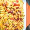 Baked pasta frittata on eatlivetravelwrite.com