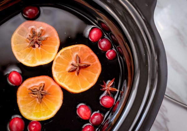Slow cooker mulled wine for a party on eatlivetravelwrite.com