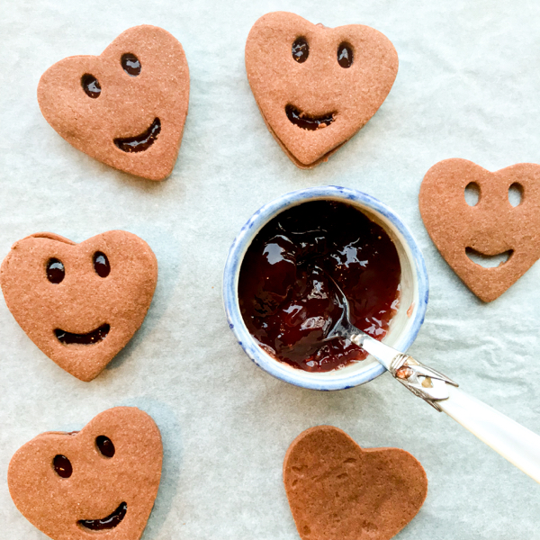 Dorie Greenspan Cocoa LInzer Cookies on eatlivetravelwrite.com