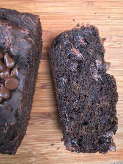 Double chocolate buckwheat banana bread recipe on eatlivetravelwrite.com