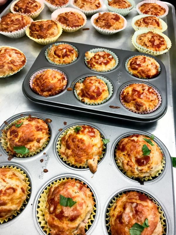 Baked Hawaiian pizza muffins with Ceri Marshon eatlivetravelwrite.com