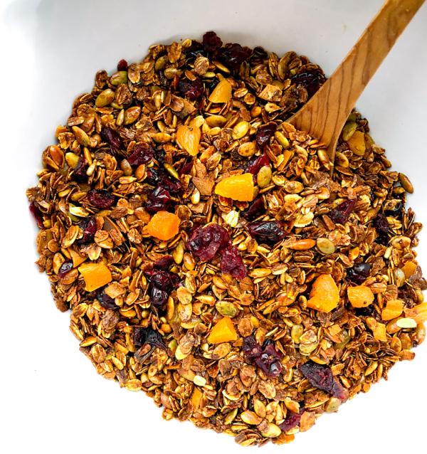 Dorie Greenspan crunchy granola on eatlivetravelwrite.com