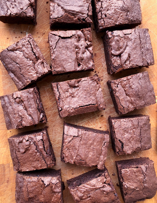 Dorie Greenspan brownies from Dories Cookies on eatlivetravelwrite.com