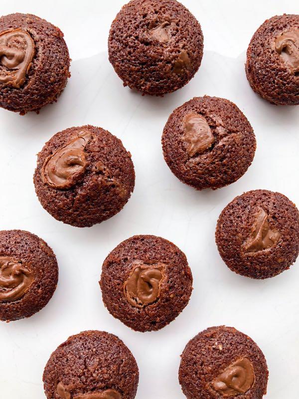 Chocolate hazelnut financier recipe on eatlivetravelwrite.com