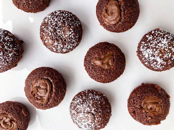 Chocolate hazelnut financiers with Nutella Ganache on eatlivetravelwrite.com