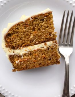 Slice of David Lebovitz carrot cake from My Paris Kitchen on eatlivetravelwrite.com