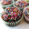 Gluten free double chocolate cupcakes with chocolate ganache and sprinkles recipe on eatlivetravelwrite.com