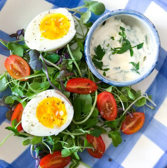 Hard Cooked Eggs with Chervil Mayonnaise from My Paris Kitchen on eatlivetravelwrite.com