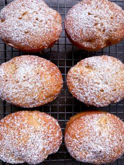 Icing sugar dusted Apple Weekend Cake on eatlivetravelwrite.com