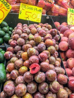 Blood Plums at Adelaide Central Market on eatlivetravelwrite.com