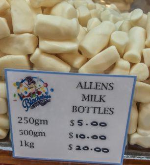 Allens Milk Bottles Lollies at Adelaide Central Market on eatlivetravelwrite.com