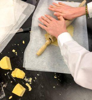 Kids rolling tart pastry from Clotilde Dusoulier Tasting Paris on eatlivetravelwrite.com
