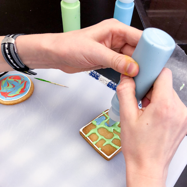 Icing patterns for decorating cookies with Adell Shneer on eatlivetravelwrite.com