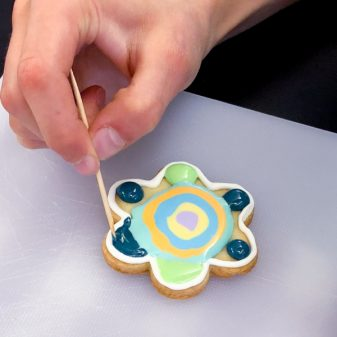Kids precision toothpick work for decorating cookies with Adell Shneer on eatlivetravelwrite.com