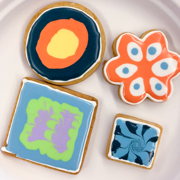 6 Kids decorating cookies with Adell Shneer on eatlivetravelwrite.com