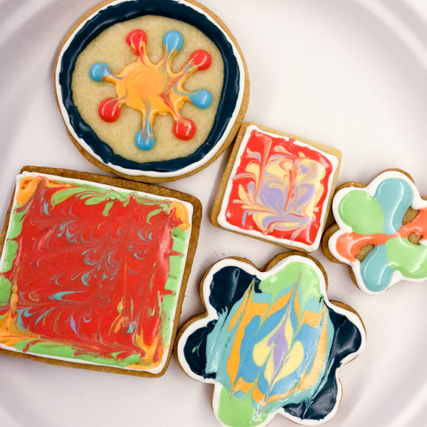 8 Kids decorating cookies with Adell Shneer on eatlivetravelwrite.com