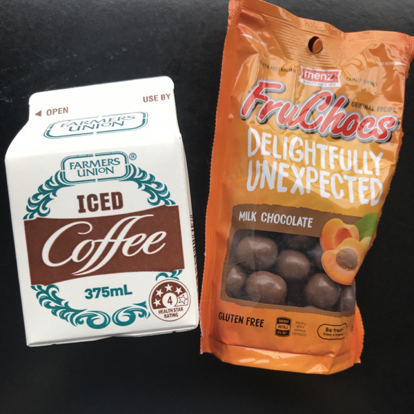 Iced Coffee and Fruchocs on eatlivetravelwrite.com