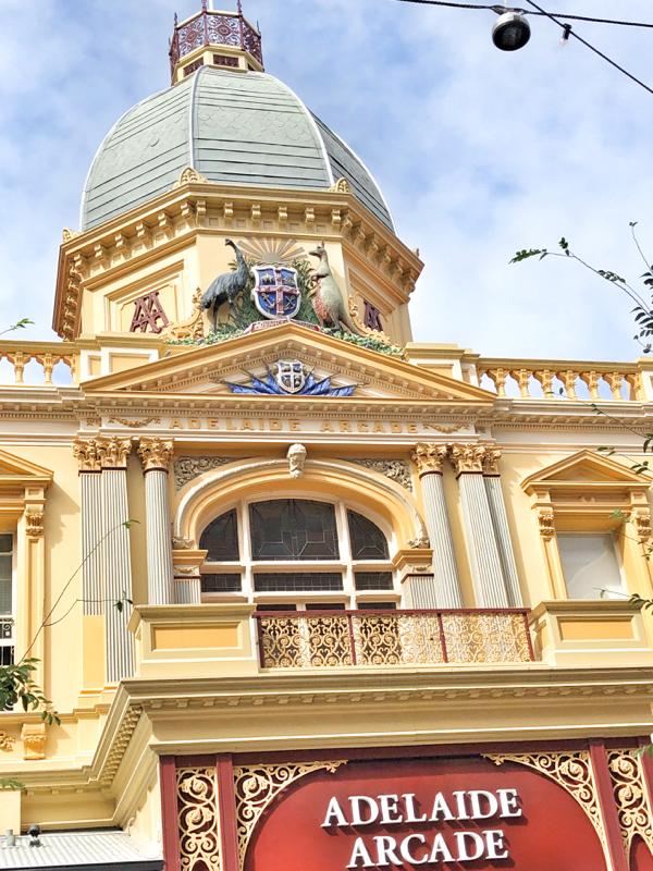 Adelaide Arcade exterior on eatlivetravelwrite.com