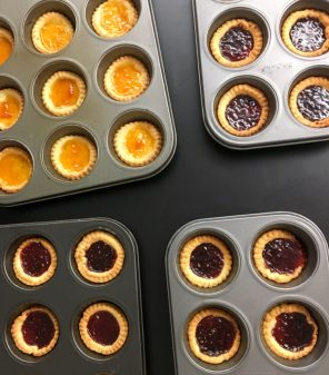 Mini jam tarts for Le Cafe Gourmand on eatlivetravelwrite.com