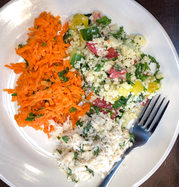Trio of bistro salads from In the French Kitchen with Kids by Mardi Michels on eatlivetravelwrite.com