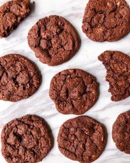 Dorie Greenspan Cocoa Tahini Cookies on eatlivetravelwrite.com
