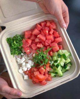 Deconstructed Persian watermelon salad on eatlivetravelwrite.com