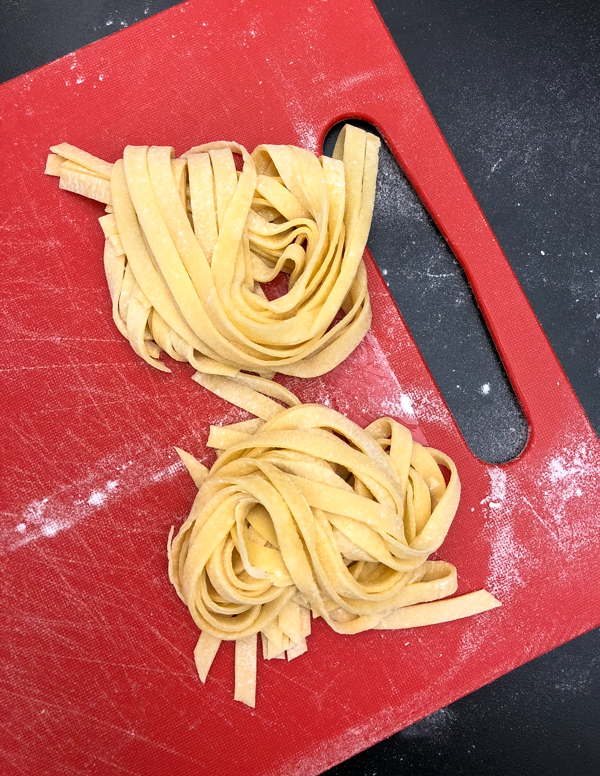 Machine cut pasta for pasta from scratch wth Emily Richards on eatlivetravelwrite.com
