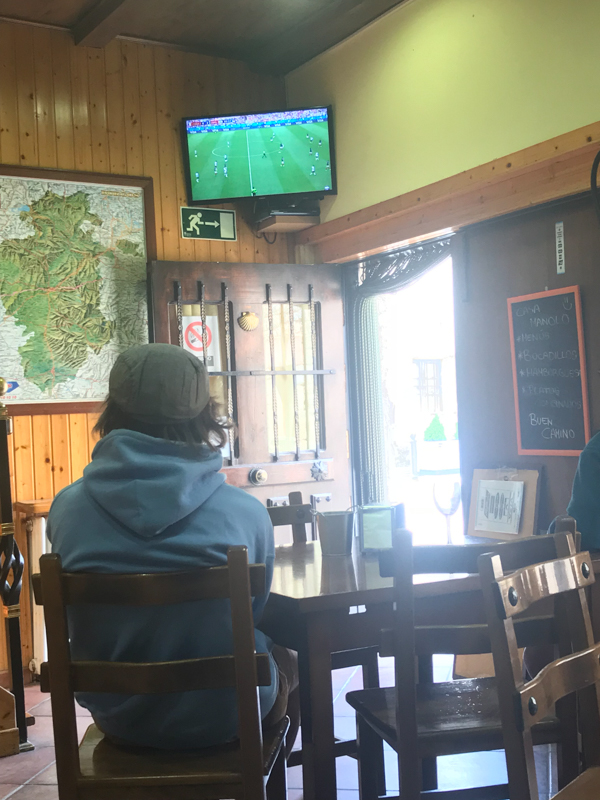 Watching the World Cup in Hornillos del Camino when Walking from Burgos to Hornillos del Camino with camino Travel Center on eatlivetravelwrite.com