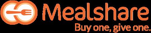 Mealshare Tagline Orange - Horizontal - Transparent
