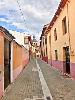 Street in Mansilla walking from El Burgo Ranero to Mansilla de las Mulas with Camino Travel Center on eatlivetravelwrite.com
