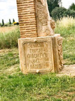 Geographic centre of the Camino walking from Calzadilla de la Cueza to Sahagun on eatlivetravelwrite.com