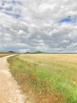Dramatic clouds walking the Camino de Santiago from Castrojeriz to Fromista with Camino Travel Center on eatlivetravelwrite.com