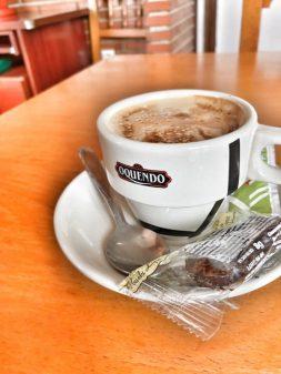 Coffee in Calzadilla de la Cueza walking from Carrión de los Condes to Calzadilla de la Cueza on eatlivetravelwrite.com