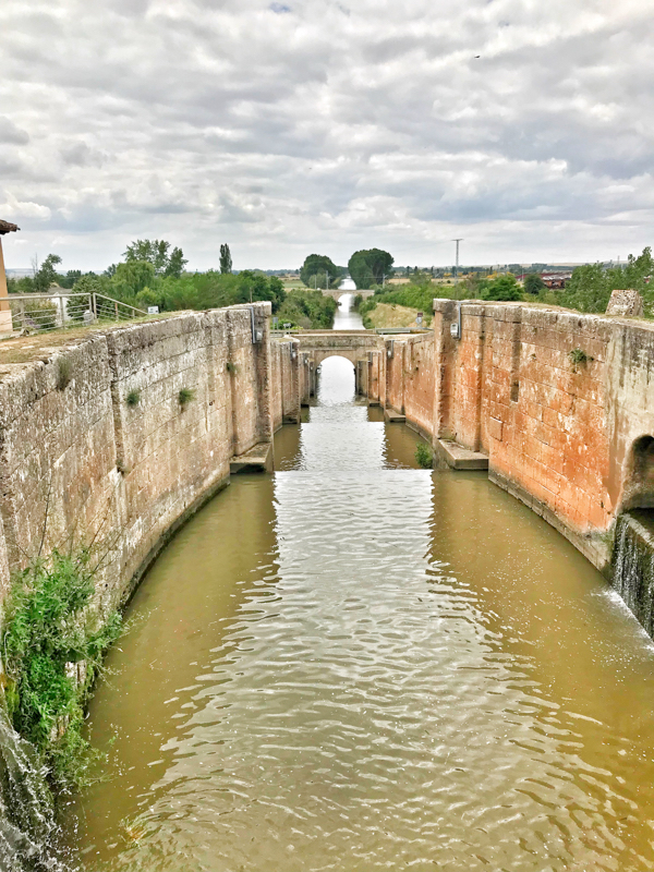 Fromista locks walking the Camino de Santiago from Castrojeriz to Fromista with Camino Travel Center on eatlivetravelwrite.com