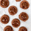 Dorie Greenspan Chocolate thumbprint cookies with jam and chocolate from Dories Cookies on eatlievravelwrite.com