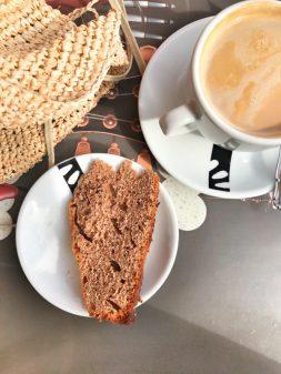 Coffee and cake in Arcahueja walking the Camino de Santiago Mansilla de las Mulas to Leonon eatlivetravelwrite.com