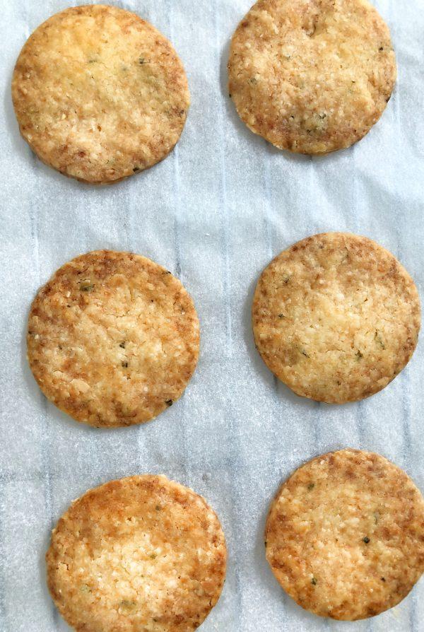 Rosemary Parmesan Cookies on eatlivetravelwrite.com