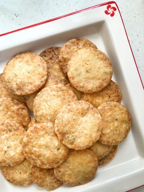 Dorie Greenspan Rosemary Parmesan Cookies on eatlivetravelwrite.com