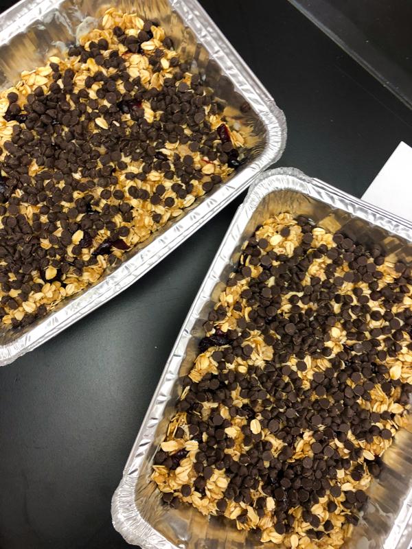 Rachael Ray no bake granola bars ready for slicing on eatlivetravelwrite.com